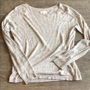 lou & grey speckled sweater